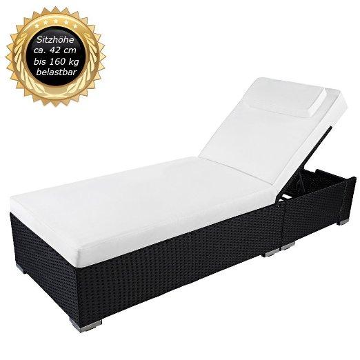 gartenliege aus rattan top produkte vergleiche ratgeber. Black Bedroom Furniture Sets. Home Design Ideas